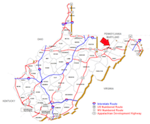 Image to illustrate the general location of Mineral County WV.