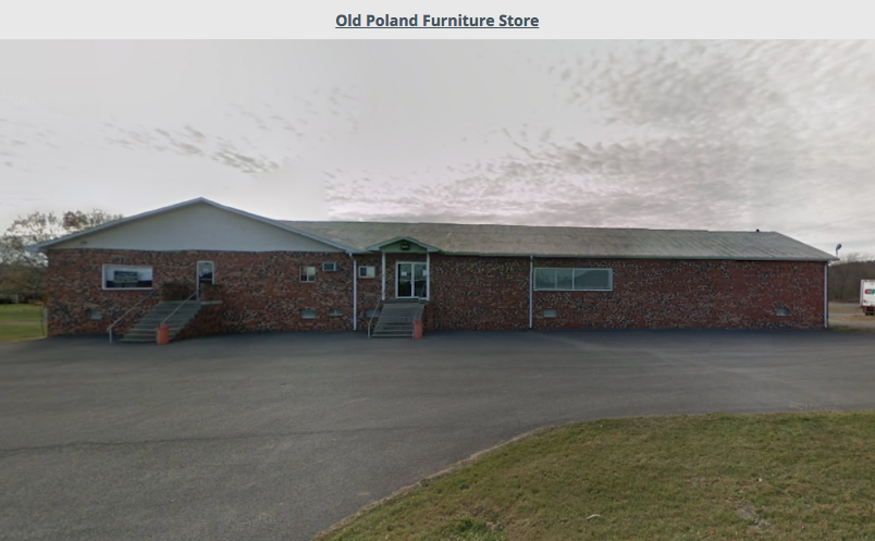 Old Polands furniture store location in Fort Ashby, WV